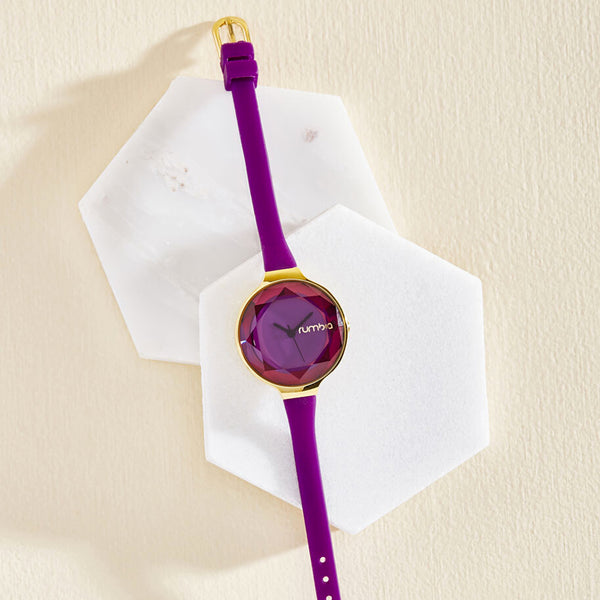 Orchard Gem Watch Amethyst | 寶石切面腕錶・紫色