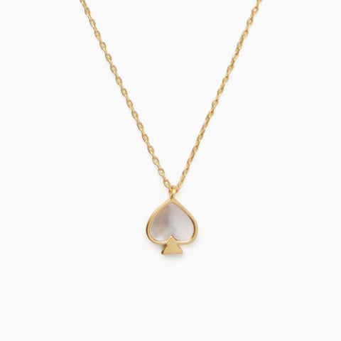 Kate Spade Signature Spade Mini Pendant Necklace | Kate Spade Signature Spade項鍊・Cream