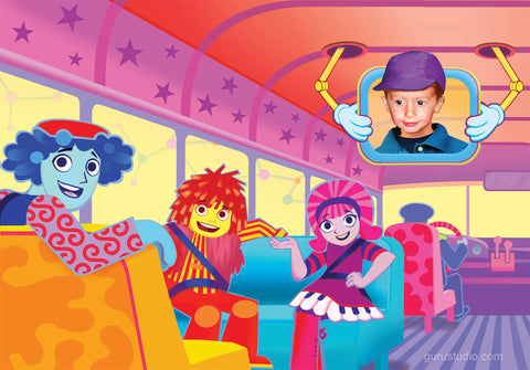 Concept art from the Doodlebops Rockin' Road Show
