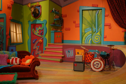 The Doodlebops clubhouse set - front