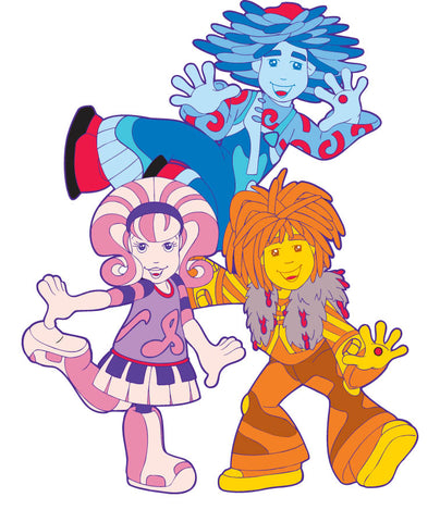Doodlebops character illustrations from the style guide