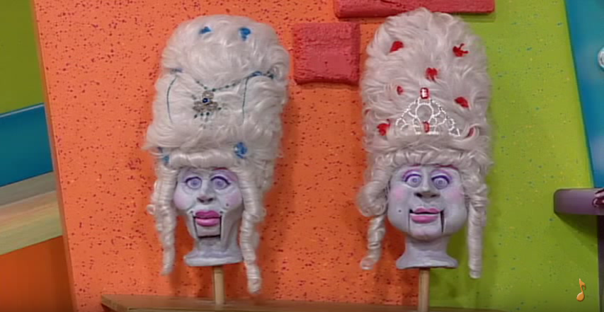 The wigheads on The Doodlebops