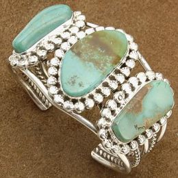We love turquoise! Handmade wearable art by Native American artists of All Tribes.
