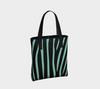 African Turquoise & Black Erika Chic Tote