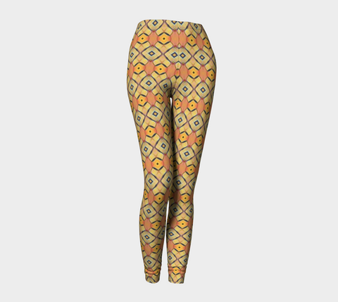 Golden Orange African Motif Leggings