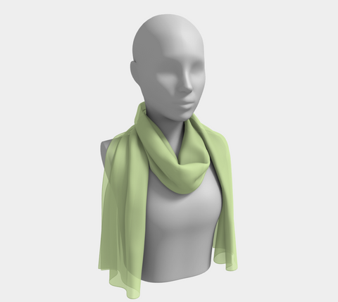 Fresh Green Long Scarf-Free Personalization Available