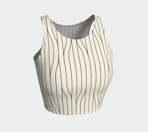 Chamois Stripes Savanna Neutral Crop Top