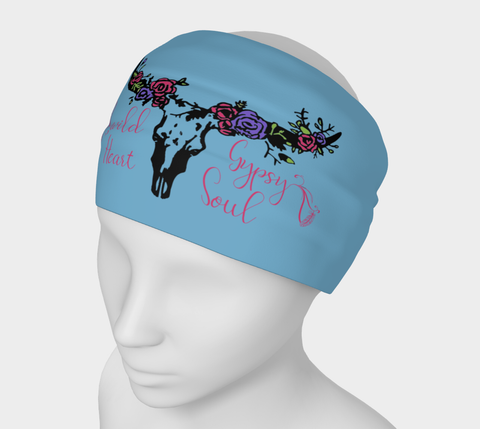 """Wild Heart Gypsy Soul"" Cornflower Headband"