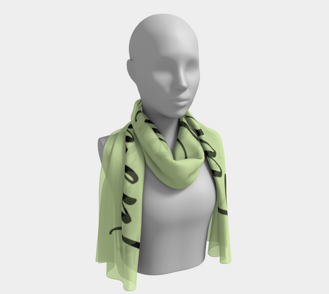 "Fresh Green ""Live in the Moment"" Inspirations Long Scarf"