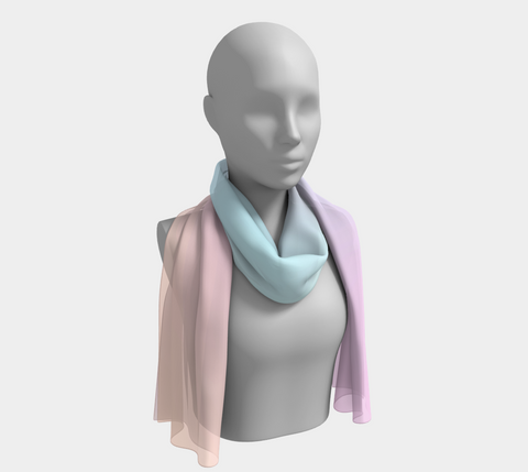 Rainbow Pastels #5 Long Scarf