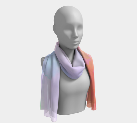 Watercolor Abstracts Long Scarf