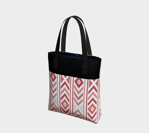 Merlot & Black Chevron Chic Tote