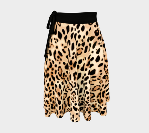 Tan Big Cats Amazing One-Size Wrap Skirt