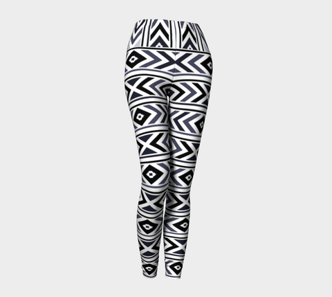 Black Chevron Leggings