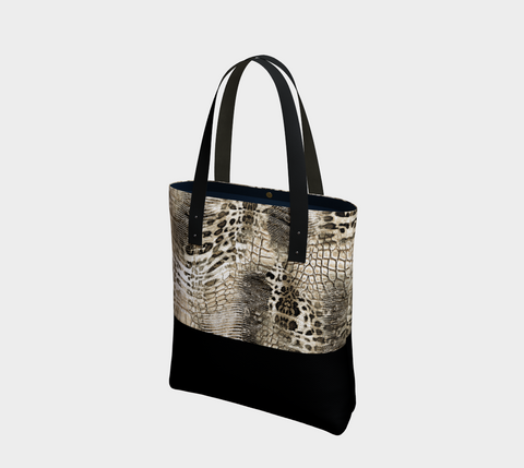 Black/Khaki Savanna Tote