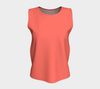 Living Coral Solid Color Loose Fit Tank Top