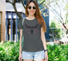 """Wild Heart Gypsy Soul"" Women's Charcoal Slim-Fit T-Shirt"