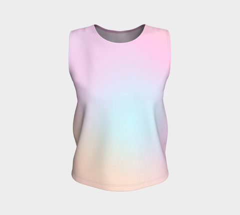 Rainbow Pastels #5 Loose Fit Tank Top