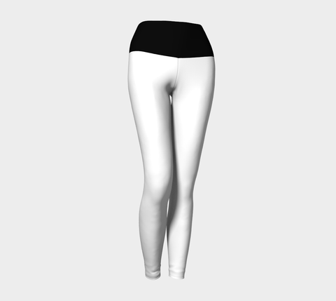 White & Black Yoga Leggings