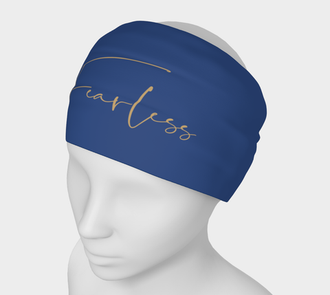 """Fearless"" Navy Headband"