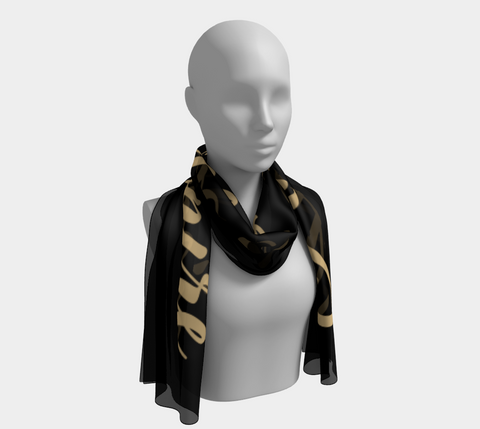 "Black ""Amaze & Inspire"" Inspirations Long Scarf"