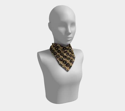 Star Gold Leopard Square Scarf/Shawl