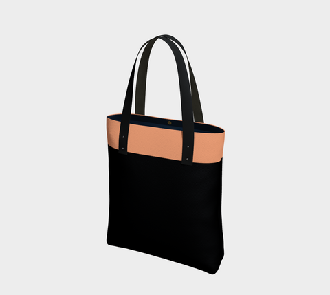 Black & Peachy Pink Chic Tote