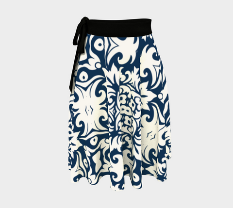 Navy Madrid Amazing One-Size Wrap Skirt