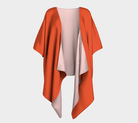 Electric Orange Shianna Draped Kimono
