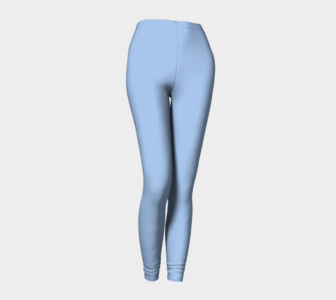 Light Blue Hydrangea Leggings