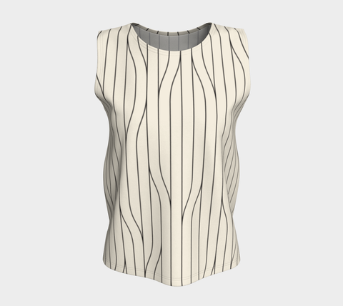 Chamois Stripes Savanna Neutral Relaxed Fit Tank Top (Long)