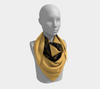 Inca Gold Black Diamond Square Scarf/Shawl