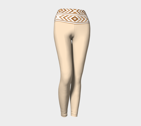 Vanilla Tan Navajo Yoga Leggings