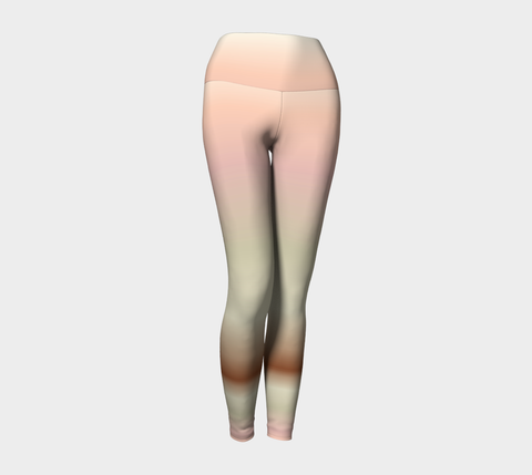Sage/Pink Yoga Leggings