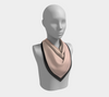 Blush Pink & Black Square Scarf/Shawl