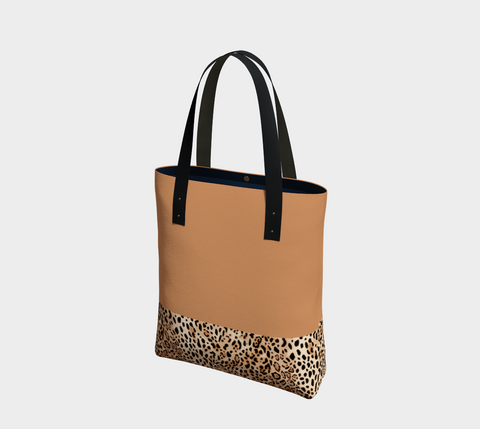 Tan Big Cats Chic Tote