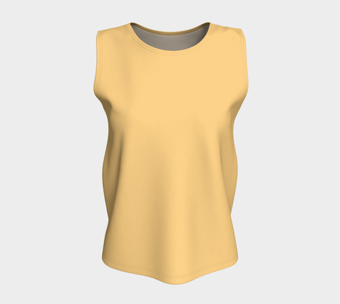 Yellow Topaz Relaxed Fit Tank Top (Long)