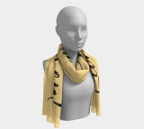 "Fresh Yellow ""Live in the Moment"" Inspirations Long Scarf"