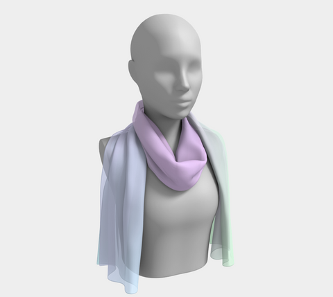 Rainbow Pastels #4 Long Scarf