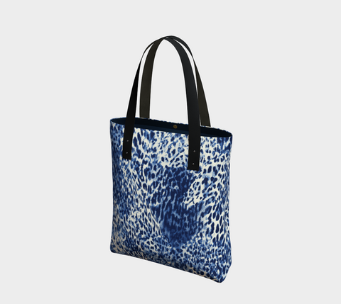 Navy Big Cats Chic Tote