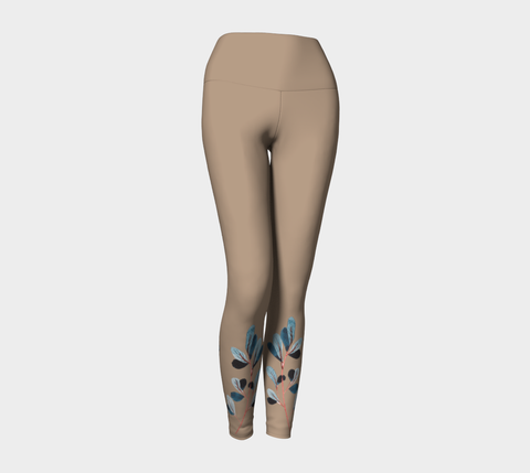 Sepia Botanical Yoga Leggings