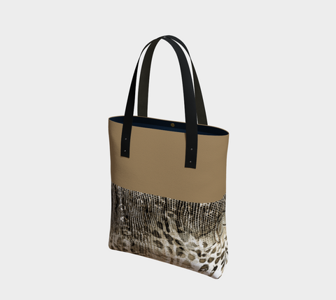 Savanna Neutral Chic Tote