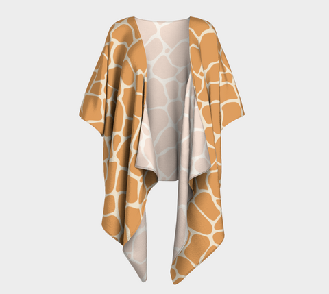 Butterscotch & Cream Zambia Draped Kimono