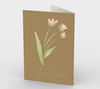 """Never forget how far you've come..."" Burma Tan Watercolor Flowers Card (3 Pack)"