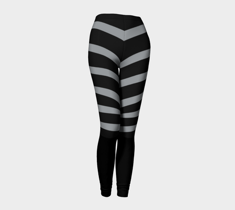 Dove Gray & Black Erika Leggings