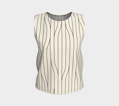 Chamois Stripes Savanna Neutral Relaxed Fit Tank Top (Regular)