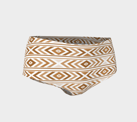 Tan Chevron Mini Shorts