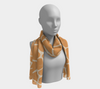 Butterscotch & Cream Zambia Long Scarf