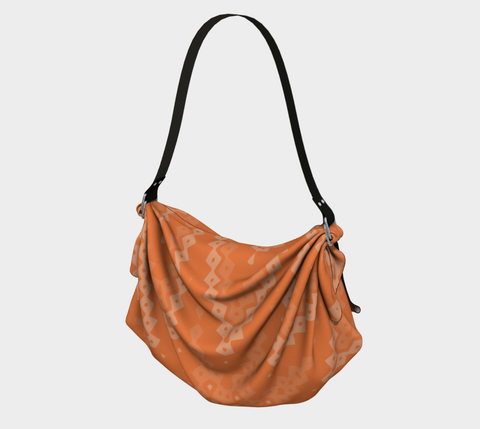 Orange Star African Motif Origami Bag/Shawl/Scarf