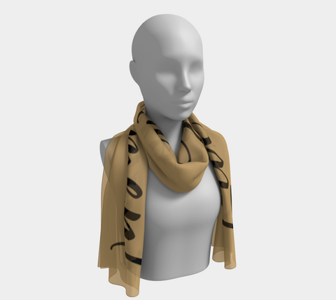 "Gold ""Live in the Moment"" Inspirations Long Scarf"